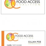 OC Food Access Logo and Card