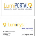 Luminys Business Cards