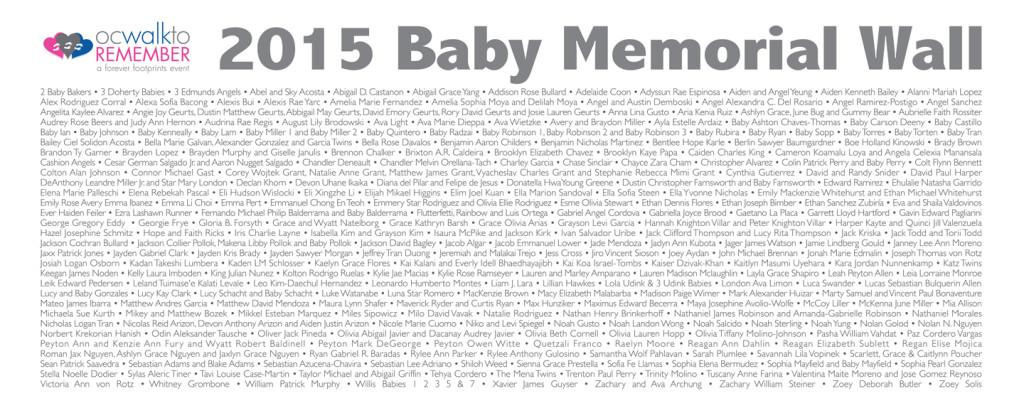 Baby Memorial Wall