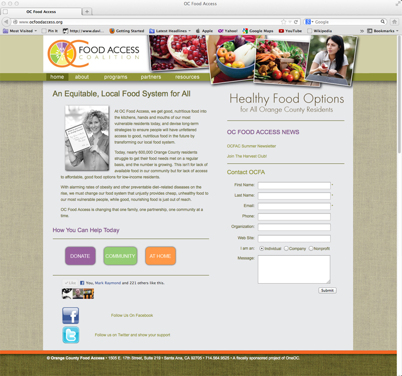 OCFoodAccess_Home_page