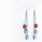 Colored Pearl Earrings