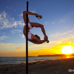 Pole Fitness at Sunset