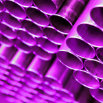 Magenta Tube Industrial Art