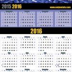 2016 Earle M Jorgensen Calendar Concept