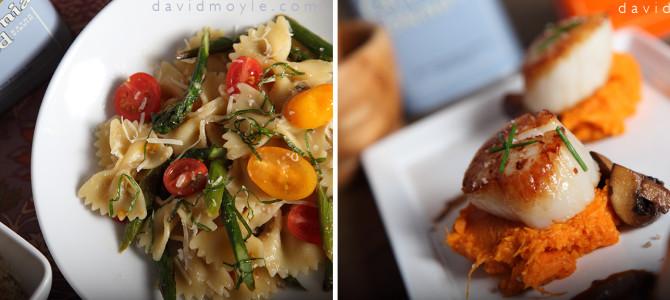 Pasta, Scallops, and Pasolivo